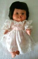 """Uneeda Baby Sweetums Drink & Wet 8"""" Doll with Sweet Dress"""