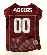EUC Texas A&M Aggies Pet Dog Football Mesh Jersey College Sports Pets First Lrge