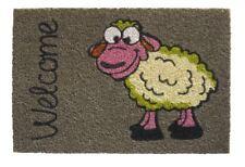 """Paillasson Kokosmatte Brebis """" Bienvenue Mouton """" 40x60cm 1,5cm Paillasson"""
