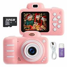 KUMUKA Kids Camera for Girls 8.0MP Child Camera with 2.4 Inch Screen and 32GB...