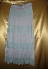 Urban Mango Gray Green Eyelet Lace Long Skirt Elastic Waist Size L NWT