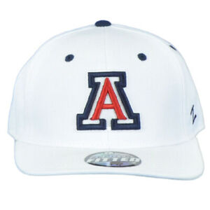 NCAA Zephyr Arizona Wildcats White Adult Curved Bill Fitted Size 7 3/8 Hat Cap