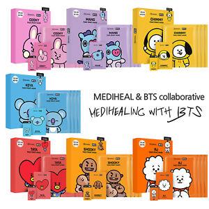 [BTS] MediHeal X BTS BT21 Korean Facial Point Mask Face Sheet +bookmark+postcard