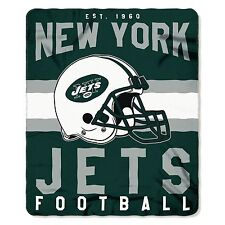"New NFL New York Jets Helmet Logo Soft Fleece Throw Blanket 50"" X 60"""