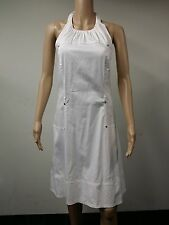 NEW - Calvin Klein - Size 14 - Low-Back Belted Haltier Dress - White - $99