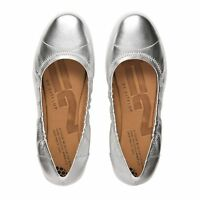 FF2TM BY FitFlop™ F-POP SILVER LEATHER BALLERINA PUMPS SHOES UK 4.5 37.5 RRP £85