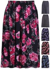 Polyester Floral Plus Size Skirts for Women