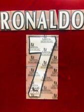 1997/06 Manchester United FC EPL #7 RONALDO Soccer Home VELVET/FELT Name Set