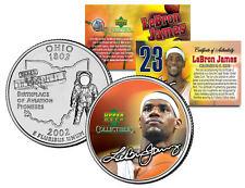 LEBRON JAMES Colorized Ohio Statehood Quarter U.S. Coin * PRE-ROOKIE * LICENSED