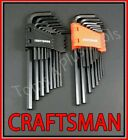 CRAFTSMAN HAND TOOLS 28pc SAE & METRIC MM Allen / Hex Key wrench set !!