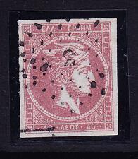 GREECE 1862 40L rose-mauve on lilac - superb 4 margins - f/u SG21b. Cat £160