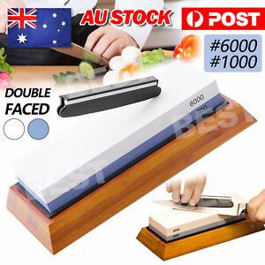 6000/1000 Dual Whetstone Waterstone Knife Sharpening Water Stone Wet Sharpener