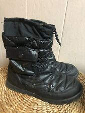 NORTH FACE WOMENS THERMOBALL MICRO BAFFLE BLACK BOOTS SZ 8