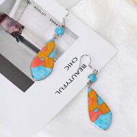 Gancho De moda Boda Encanto Dangle Ear Stud Opal Nuevo Pendientes de turquesa