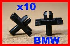 10 BMW Extérieur Corps Moulage Bordure éraflures Scratch Bande Attaches Clips