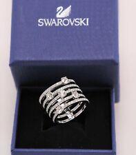 Swarovski 5166812 Creativity Ring Crystal Rhodium Size 55 Silver