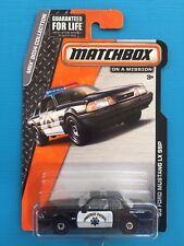 2014 Matchbox CHiPs 1993 V8 FORD MUSTANG LX SSP CHP POLICE PATROL CAR long card!