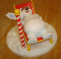 Vintage Coca-Cola Coke Polar Bear Relaxing at the North Pole Plastic Figure (A)