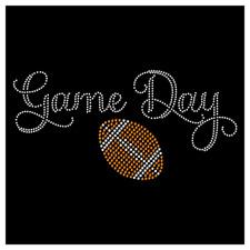 Game Day Football Lace Sport Team Mom Mascot Rhinestone Hotfix Iron On Transfer