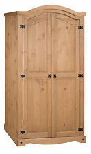 Mercers Furniture® Corona Mexican Pine 2 Door Arch Top Wardrobe