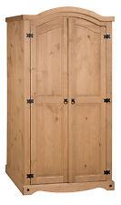 Mercers Furniture Corona Mexican Pine 2 Door Arch Top Wardrobe