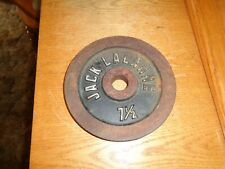 1 Vintage Rare Jack Lalanne 7.5 lb Dumbbell Weight Plate   . 1 inch  hole
