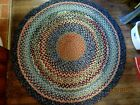 HAND MADE OVAL BRAIDED RUG  C1950'S