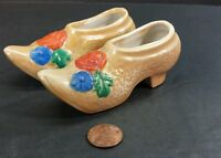 Vintage Ceramic Hand Painted Shoes Made in Japan