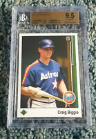 1989 Upper Deck #273 CRAIG BIGGIO RC Rookie Houston Astros HOF BGS 9.5 w/ 10
