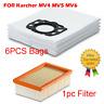 6PCS Vacuum Cleaner Dust bags & 1 Filter for Karcher MV4 MV5 MV6 Replacements
