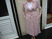 PRETTY! GILES DEACON EDITION @DEBENHAMS PASTEL PINK LIGHTWEIGHT TRENCHCOAT UK 8