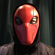 Red Hood Cosplay Full Mask Costume Props Injustice 2 Mask Halloween Party Unisex