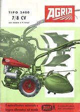 Depliant Motocoltivatore Agria 2400 - In italiano 1965