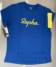 Rapha Yorkshire T-Shirt Blue Size Medium 100% Cotton Brand New With Tag