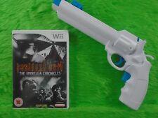 wii RESIDENT EVIL The Umbrella Chronicles + White REVOLVER Attachment PAL UK