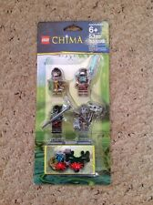 New Lego Chima 850910 Set Of 4 Figures.  Longtooth, Crug, Will hurt, Grumlo.