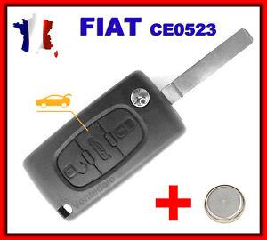 Shell Key Rks Beep Fiat Doblo Scudo Ducato Fiorino Button Trunk CE0523+Battery