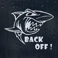 Back Off Shark Car Decal Vinyl Sticker For Window Panel Bumper