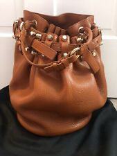 ALEXANDER WANG Diego Leather Brown/Tan Color Buckle Shoulder Bag Purse