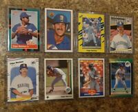(8) Edgar Martinez 1988 1989 Fleer Donruss Upper Score Bowman Rookie card lot RC