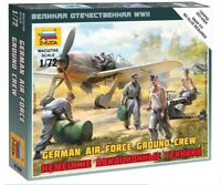 Zvezda 6188, 1:72, WWII, German airforce Ground Crew, 5 Figuren und Zubehör, GMK