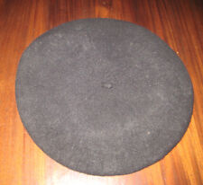 Beret Basque 100% Wool Black De Luxe Made in Czech Republic Vintage Unisex