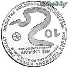 Polonia 2009 coins 10 Miedz. Wąż Snake Schlange 2 Animals Pets Tiere Zwierzę sod