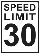 """SPEED LIMIT  30MPH - NEW ALUMINUM SIGN - 9"""" X 12""""  road and street signs -"""