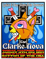 Clarke Nova & Sons of Kyuss 1996 Original Concert Poster By Frank Kozik S/N
