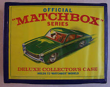 LESNEY VINTAGE MATCHBOX 72 PC CARRY CASE WITH 60 MATCHBOX CARS   #CC72