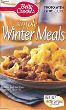 SIMPLE WINTER MEALS BETTY CROCKER COOKBOOK JANUARY 2003 #192 FAJITA LASAGNA MORE