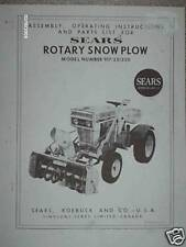 917.251350- Sears Rotary Snow Plow/Blower- Owners Manual on CD
