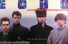Echo & The Bunnymen 1984 Ocean Rain Original Promo Poster