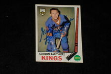 GORDON LABOSSIERE 1969-70 TOPPS SIGNED AUTOGRAPHED CARD #109 KINGS